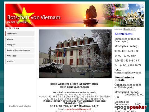 vietnam-embassy.ch - Vietnamesische Botschaft in der Schweiz