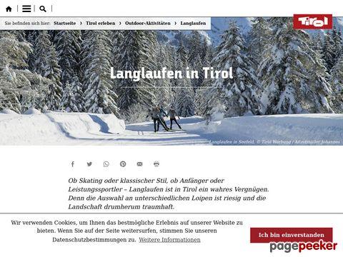 Langlauf in Tirol - Österreich   Skilanglauf und Langlaufloipen in Tirol