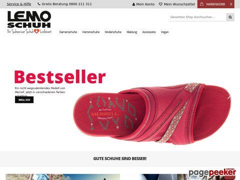 lemo-schuh.ch - Lemo-Schuh-Versand - Schuhversand Schweiz - Schuhe für Damen, Herren und Kinder...