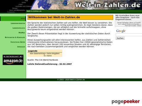 Welt-in-Zahlen.de - geostatistische Daten