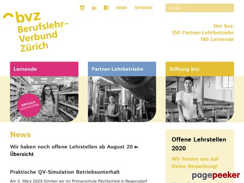 Lehrstellen Zürich - BVZ Zürich