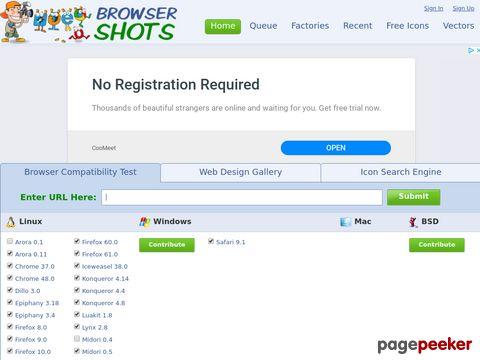 browsershots.org - Browser-Kompatibilität testen, plattformübergreifender Browsertest
