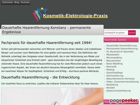 Dauerhafte Haarentfernung - permanente Ergebnisse an der schweizer Grenze