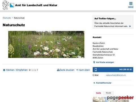 Fachstelle Naturschutz - Fachstelle Naturschutz - Amt für Landschaft und Natur - Baudirektion - Internet Kanton Zürich