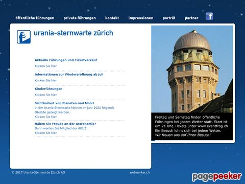 urania-sternwarte.ch - Sternwarte Urania (Zürich)