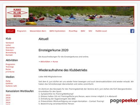 kanubern.ch - Kanu Klub Bern