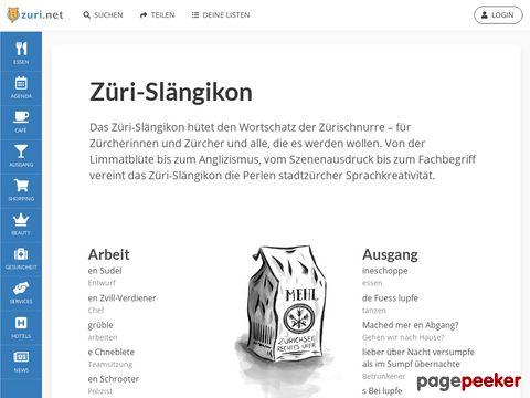 Züri-Slängikon - Zürislang-Lexikon