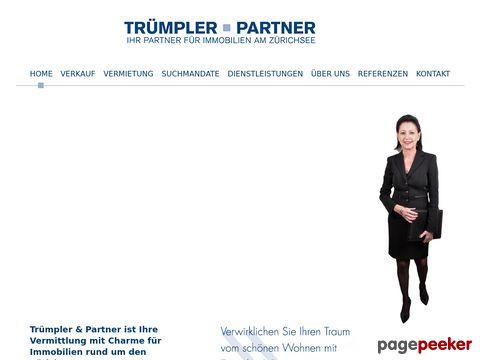 Trümpler & Partner - Ihr Partner für die Vermittlung von erstklassigen Immobilien am Zürichsee