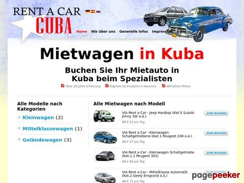 Rent a car Cuba,  Mietwagen Kuba, Rentacar en Cuba