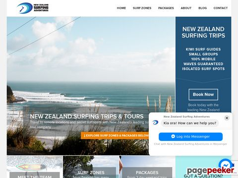 New Zealand Surfing Adventures - New Zealand Surfing Trips, Surf Tours, Vacations