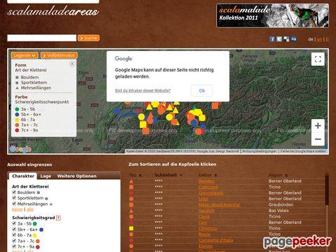 scalamalade-areas.com - Schweizer Klettergebiete