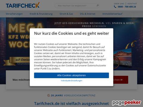 Tarifcheck24.com - Finanzportal mit kostenlosen Versicherungsvergleichen