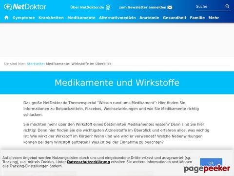 NetDoktor.de - Medikamente - ihr Wirkung