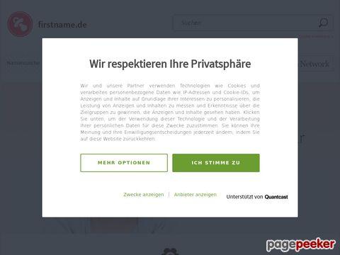 firstname.de - Die Datenbank mit mehr als 82.000 Vornamen aus aller Welt