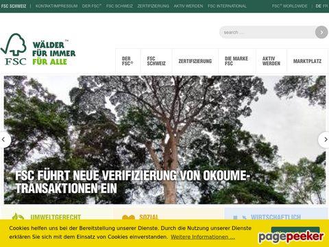 FSC-Schweiz/FSC-Suisse - FSC (Forest Stewardship Council) - Zertifizierung von Holz-Produkten