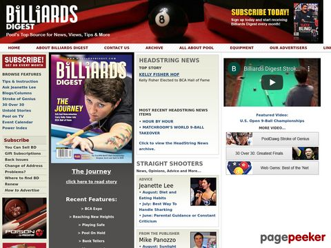 Billiards Digest — Pool Magazine for News, Instruction & More