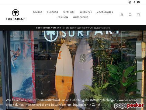 surfari.ch - Schweizer Online Surfshop