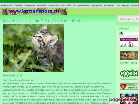 katzenspass.ch - viele Infos und Fotos für und von Katzenfreunde