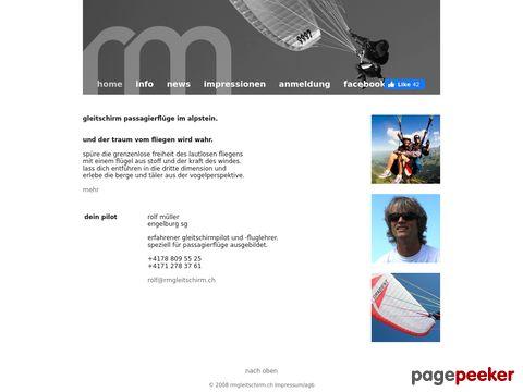 rmgleitschirm.ch Gleitschirm Passagierfluege Tandemflug Paragliding Alpstein Ostschweiz