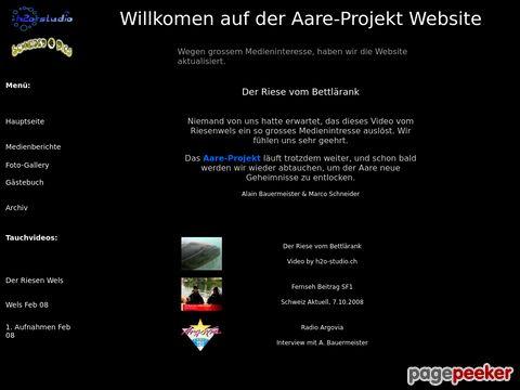 Aare-Projekt 2008 - Video von Riesenwels