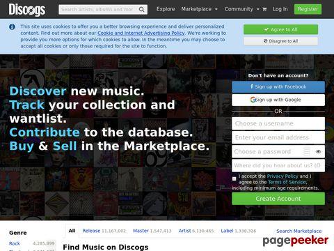 Discogs.com - Online-Datenbank für Diskografien und Musiker