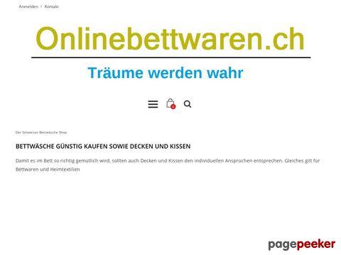 Bettwäsche günstig kaufen - Onlinebettwaren.ch