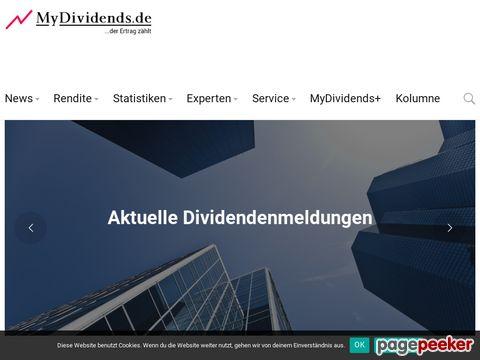MyDividends.de  - Aktuelles zu Dividenden