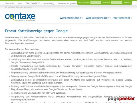 Contaxe - Kontextsensitive Werbung