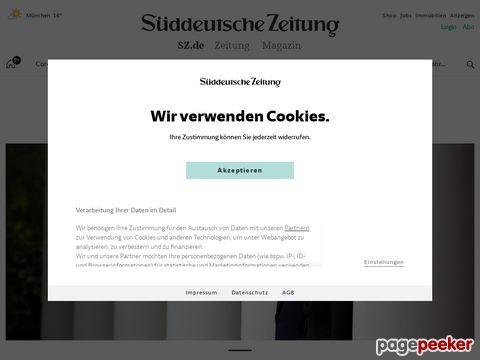 sueddeutsche.de - Homepage Topthemen