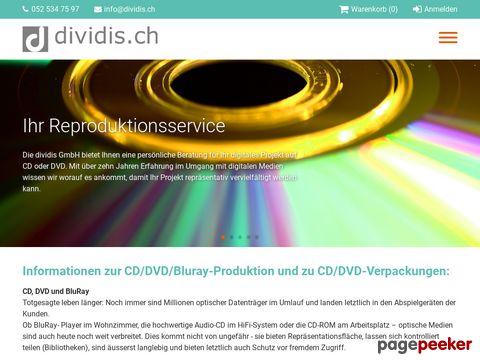 dividis.ch - CD/DVD-Rohlinge und Zubehör, Brenn- und Druckservice