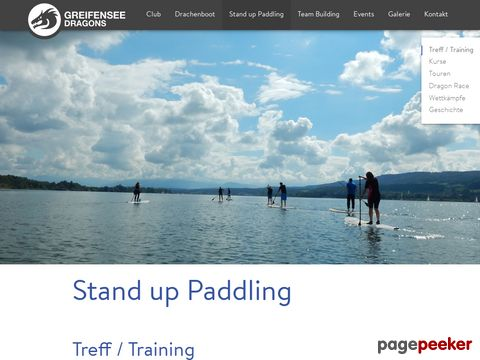 Greifensee Dragons - Stand up Paddling (Greifensee, ZH)