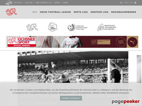 SFV - Schweizerischer Fussballverband
