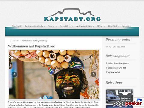 Kapstadt.org - Online Reiseführer für Kapstadt / Südafrika