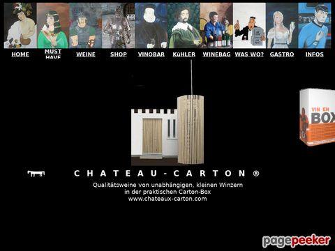 chateaux-carton.ch - Qualitätsweine von unabhängigen, kleinen Winzern in der praktischen Carton-Box