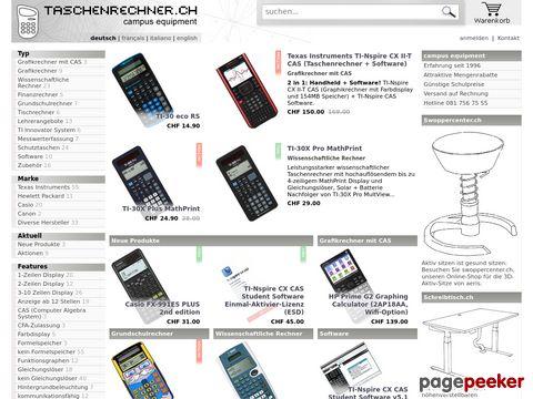 Taschenrechner.ch - schnell - günstig - online