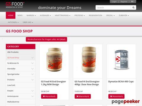 GSFood- Sport und Wellnessernährung onlineshop