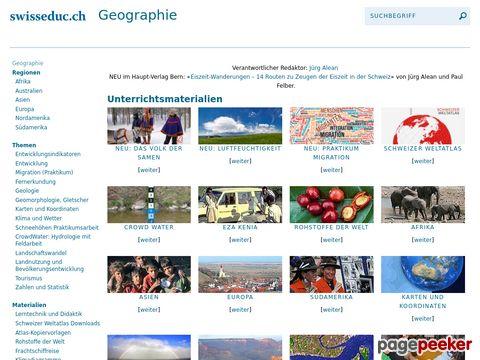 SwissEduc - Geografie - Unterrichtsmaterialien