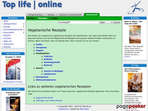 vegetarische Rezepte präsentiert von TopLife.at
