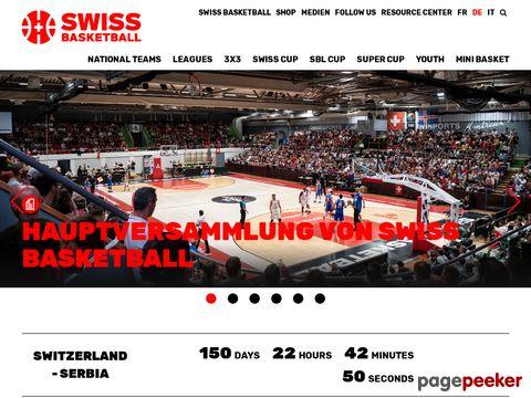 Swiss Basketball ist der Schweizerische Basketballverband