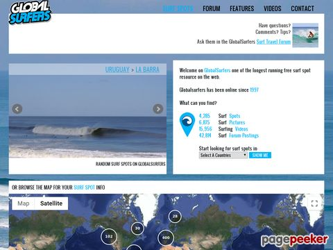 GlobalSurfers.com surfing / travel / holiday community (weltweit)