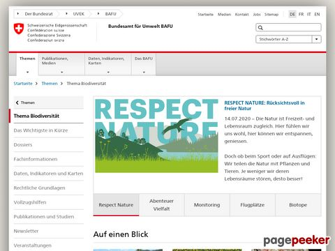 Informationen über den Wolf vom Schweizer Bundesamt für Umwelt (BAFU)