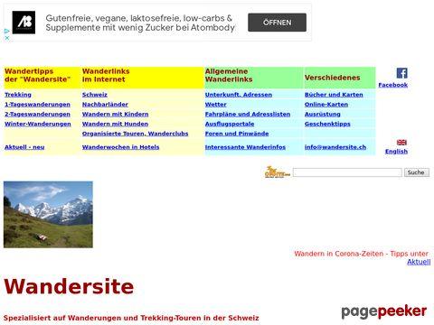 wandersite.ch - Wanderungen und Trekking in der Schweiz