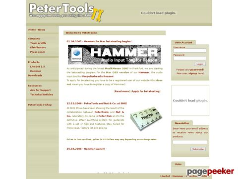 Peter Tools Software - We supply the tools, you bring the skills