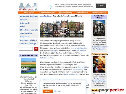 Amsterdam.info - Amsterdam hotels, Touristeninformation, Unterkunft, Ferienwohnungen