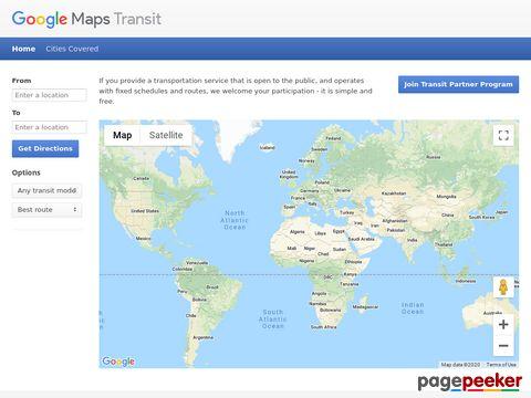 Google - Transit - perfekte Reiseverbindung ermitteln (Weltweit)