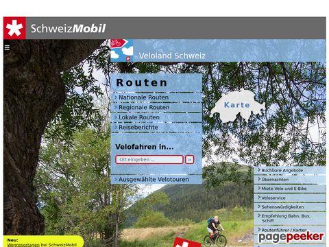 veloland.ch - die schönsten offiziell signalisierten Routen zum Velofahren in der Schweiz