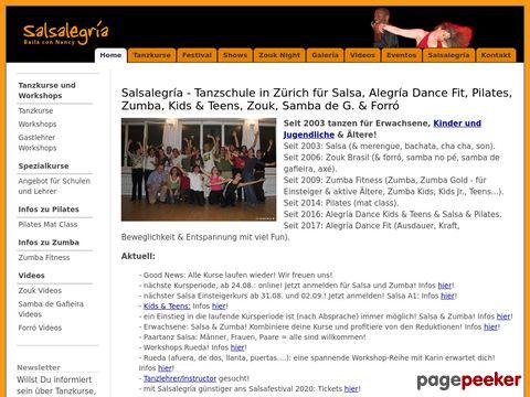 Salsalegría - Tanzschule in Zürich für Salsa, Zouk, Zumba, Samba de Gafieira und Forró