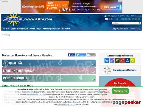 astro.com - Astrologie und Horoskop Homepage -  Astrodienst