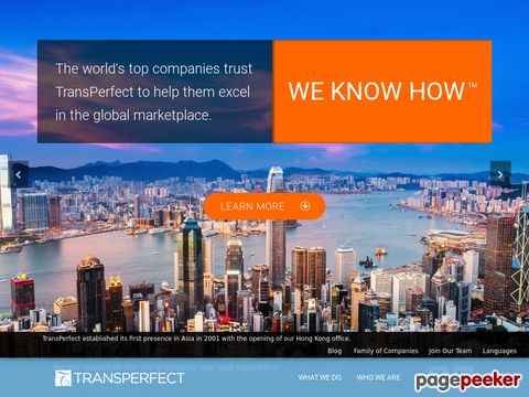 transperfect.com - TransPerfect - Translations is based in New York