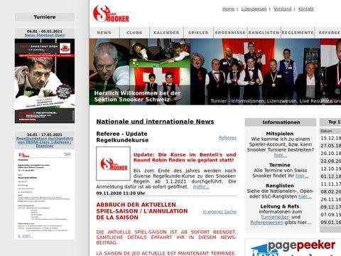 snooker.ch - Swiss Snooker